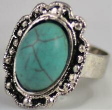 BNWOT Ornate Costume jewellery ring with turquoise stone - U.K. Size P