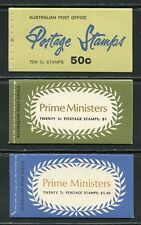 Australia Lot Of Three Complete Booklets Mint Nh