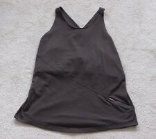 Lululemon Women's Tank Large Active Sports Scoop Neck Brown Yoga Workout Top