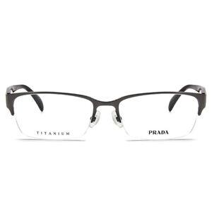 Prada Eyeglasses PR 57RV 9AH1O1 Titanium Man Optical Frame - Gunmetal - 54MM