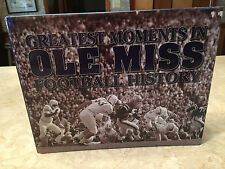 Greatest Moments in Ole Miss Football History 1999 HCDJ Rebels Mississippi book