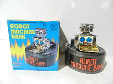 VINTAGE WIND-UP TOY ROBOT MACHINE COIN BANK MONEY EVERLAST CHINA MINT IN BOX