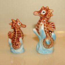 Vintage Bone China Seepferdchen Paar für Bad oder aquairum