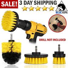 Brush Set Cleaning Drill Brush Kit Carpet Tile Power Scrubber Cleaner Attachment