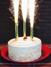 """Birthday Wedding Bottle Party Gold 7"""" Candles 6 ct Sparkling party candles"""