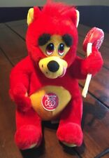 Tootsie Roll Pop Cherry Red Plush Bear 1999 Nanco Lollipop Sucker