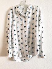 Equipment Femme Slim Signature Star Print Silk Blouse Top Shirt Size M
