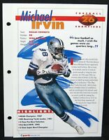 1994 Michael Irvin  Cowboys  Sports Heroes Feats & Facts Football Champions
