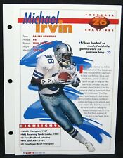 1994 Michael Irvin Dallas Cowboys  Sports Heroes Feats & Facts Hockey Champions