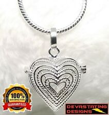 925 Sterling Silver Womens Angel Chime Ball Locket & Snake Necklace D524D