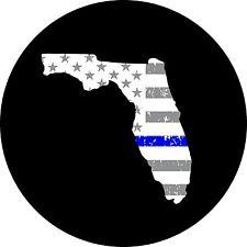 Thin Blue Line Florida Jeep Wrangler Liberty RV Trailer Camper Spare Tire Cover