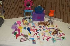 Mattel Barbie  Beauty Hair Salon Vanity with Accessories  85 pieces