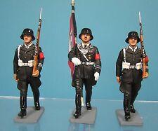 king & country 54mm ww2 german lah flag + 2 marching 3 figs 2003 Lah029/30 oop