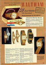 1957 PAPER AD 4 PG Waltham Wrist Watch Paul Revere Opera Series Webster Clay