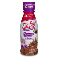 ( 16 Bottles ) SlimFast Weight Loss, Meal Replacement Chocolate Shake 11 Oz