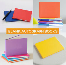 Autograph Books,Colourful Notebook, Kids Leavers Gift,  A6, Signing, Blank Cover