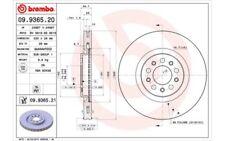 2x BREMBO Disques de Frein Arrière Ventilé 330mm 09.9365.21 pour Alfa Romeo
