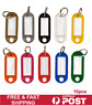 10Pcs Plastic Luggage Key Tags ID Tags Key Rings Key Tag Key Chains Key Fob
