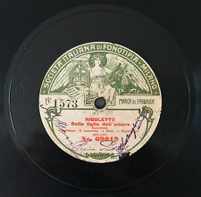 "ULTRA RARE 78RPM 14"" ONE SIDED FONOTIPIA 69019 RIGOLETTO BELLA FIGLIA QUARTETTO"