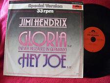 Jimi Hendrix - Gloria / Hey Joe      rare Polydor  Maxi