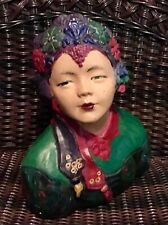Chalkware bust of Chinese Asian woman genre of Esther Hunt