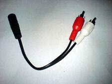 Audio Adapter Kabel, Chinch, 3,5 mm Buchse Stereo Unbenutzt NEU