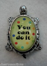 m you can do it! TURTLE CHARM FIGURINE ganz lucky encouragement Life Message