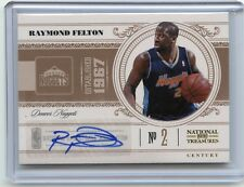 2011-12 NATIONAL TREASURES #22 RAYMOND FELTON AUTOGRAPH #42/99, DENVER NUGGETS