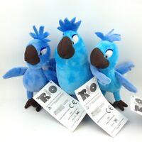 "3X Rio the Movie Carla Bia Tiago Plush Toy Birds Blu Jewel Stuffed Animal New 5"""