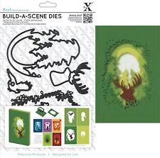 XCUT BUILD A FOREST SCENE SHADOW BOX 6 DIES CUTTING DIE SET UNIVERSAL FIT - NEW