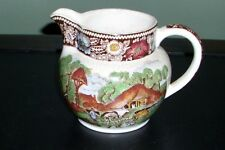 "Midwinter Ltd Brown Rural England ~ Creamer Pitcher 3-1/2"" Tall ~ Nice Condition"