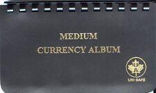 Uni-Safe 10 Pocket Vinyl Currency Album - Medium