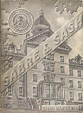 1943 Sabre & Sash PMC Pennsylvania Military College 3rd War Class Yearbook mg