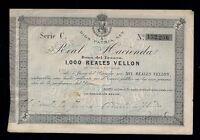F.C.1000 REALES DE 1873. SERIE C. EBC. SUCIO PICO ROTO