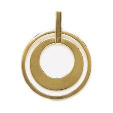 Pendentif Femme RING 2 ANNEAUX en Plaqué Or 18 carats NEUF - BEAUX BIJOUX