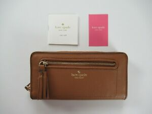 Kate Spade New York Chester Street Neda Leather Clutch Wallet Brown NEW $189