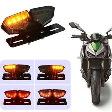 18 SMD Smoke LED Motorcycle Brake Tail Turn Signal License Plate Integrated Ligh