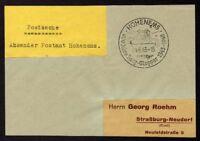 █ Postsache Absender Postamt HOHENEMS 04/06/43 █