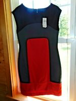 NWT Banana Republic dress Petite size 2 sexy red gray short msrp$99  SALE!!!!