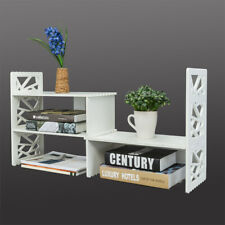 Expandable Desktop Bookshelf Organizer Shelving Office Storage Holder Rack 2021