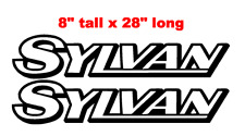 """PAIR OF 8"""" X 28"""" SYLVAN BOAT HULL DECALS MARINE GRADE. YOUR COLOR CHOICE."""