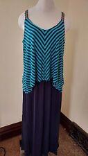 Spenser Jeremy Womans Dress 14W Chevron Striped Design Sleeveless Maxi Long Nice
