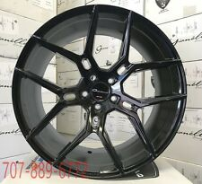 22x9/10.5 GIOVANNA WHEELS HALEB Gloss Black Rims Fits Challenger Charger Hellcat