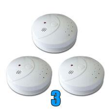 3 Y5 WIRELESS RF RADIO LINK SMOKE Detector ALARM InterLinked Fire Sensor BATTERY