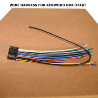 NEW WIRE HARNESS FOR KENWOOD DDX-374BT DDX374BT FREE FAST SHIPPING