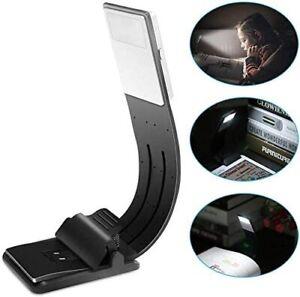 Lampada da lettura a LED, 4 Luminosità regolabili, con Morsetto, Flessibile