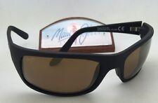Polarized MAUI JIM Sunglasses PEAHI MJ 202-2M Matte Black Frame w/ HCL Bronze