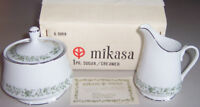 Vintage Mikasa Japan MONTCLAIRE G9059 3-Pc. Sugar/Creamer Pair - New!