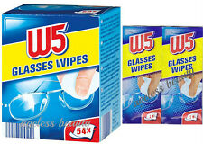Pre Moist Lens Wet Wipes Cleans Glasses Individual Sachets Glass Cleaner 54pcs