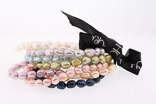 Honora 7-8mm Multi-color Genuine Cultured Baroque Pearl Bracelet Set of 8
